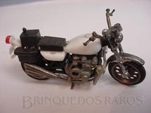 1. Brinquedos antigos - Sem identificação - Honda 750 Four com 8,00 cm de comprimento Polícia Década de 1970