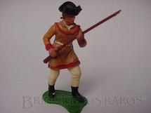 1. Brinquedos antigos - Britains - Pioneiro Americano de pé com rifle Série Swoppet Década de 1970