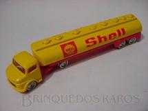 1. Brinquedos antigos - Lego - Cavalo Mercedes Benz com carreta tanque Shell Lego Systen Década de 1960