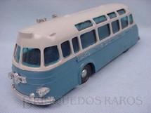 1. Brinquedos antigos - Sem identificação - Onibus azul e cinza com 20,00 cm de comprimento Década de 1960