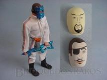 1. Brinquedos antigos - Estrela - Boneco Moreno sem barba Olhos de Águia com macacão branco Completo com duas máscaras Ano 1982