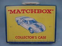 1. Brinquedos antigos - Matchbox - Maleta Collector Case Regular Wheels para 48 carros 1:66 completa com interior de papel Década de 1960
