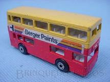 1. Brinquedos antigos - Matchbox - Inbrima - The Londoner Superfast amarelo e vermelho Brazilian Matchbox Inbrima 1970