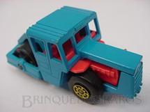 1. Brinquedos antigos - Matchbox - Inbrima - Bomag Road Roller Superfast azul Brazilian Matchbox Inbrima 1970
