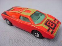 1. Brinquedos antigos - Matchbox - Lamborghini Countach Superfast vermelha numero 8