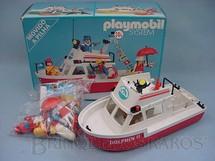 1. Brinquedos antigos - Trol - Playmobil Lancha de Pesca Dolphin II Completa com motor Década de 1980