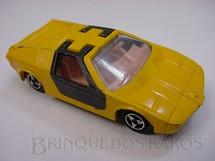 1. Brinquedos antigos - Majorette-Kiko - BMW Turbo amarela Majorette Brésilien Kiko Década de 1980