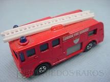 1. Brinquedos antigos - Matchbox - Merryweather Fire Engine Superfast Transitional Weels vermelho