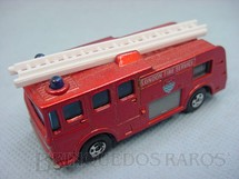 1. Brinquedos antigos - Matchbox - Merryweather Fire Engine Superfast Transitional Weels vermelho metálico