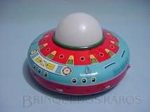 1. Brinquedos antigos - Metalma - Disco Voador Patrulha do Espaço com 20,00 cm de diâmetro Década de 1970