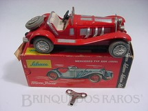 1. Brinquedos antigos - Schuco - Mercedes typ SSK 1929 vermelho Micro Racer Década de 1970