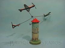 1. Brinquedos antigos - Technofix - Torre com 20,00 cm de altura 3 aviões Made in US Zone Ano 1948