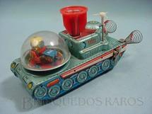 1. Brinquedos antigos - KO Yoshiya - Nave tanque espacial com TV e Satélite 20,00 cm de comprimento Década de 1960