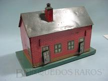 1. Brinquedos antigos - Bing - Casa padrão tijolinho com 25,00 cm de comprimento Bitola O Década de 1950