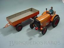 1. Brinquedos antigos - Metalma - Trator agrícola com reboque Década de 1960