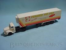1. Brinquedos antigos - Juê - Conj. Cavalo Mecanico Scania Vabis L111 com carreta Frango Pif Paf Década de 1970