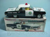 1. Brinquedos antigos - Daiya - Carro Impala 1962 Police Car com 26,00 cm de comprimento Década de 1970