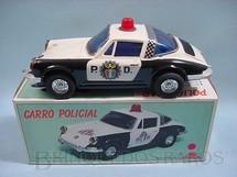 1. Brinquedos antigos - Tay Shin - Porsche 911 GT com 25,00 cm de comprimento Polícia
