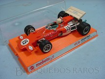 1. Brinquedos antigos - Mebetoys - Lotus Ford 72 Formula 1 cor laranja Ano 1972