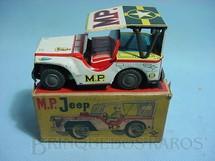 1. Brinquedos antigos - Daiya - Jeep Willys Military Police com 12,00 cm de comprimento Década de 1960