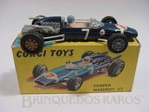 1. Brinquedos antigos - Corgi Toys - Cooper Maserati Fórmula 1 azul metálico