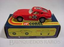 1. Brinquedos antigos - Corgi Toys - Datsun 240Z vermelho