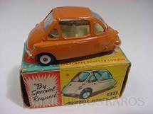 1. Brinquedos antigos - Corgi Toys - Heinkel marrom Década de 1960