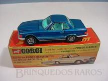 1. Brinquedos antigos - Corgi Toys - Mercedes Benz 350 SL azul metálico