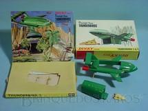 1. Brinquedos antigos - Dinky Toys - Veículos Thunderbirds FAB 2 e FAB 4 completos com display Década de 1960