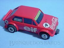 1. Brinquedos antigos - Estrela - Fiat 147 Vermelho chassi  diagonal