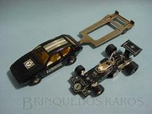 1. Brinquedos antigos - Corgi Toys - Gift Set Lotus Racing com Lotus Elite carreta e Lotus 72C formula 1