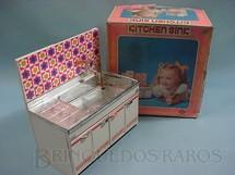 1. Brinquedos antigos - Daiya - Cozinha de boneca Kitchen Sink completa funciona com agua