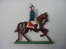 1. Brinquedos antigos - Sem identificação - Soldado a cavalo com espada Semi - Flat forma Schneider