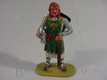 1. Brinquedos antigos - Elastolin - Cavaleiro medieval a pé com escudo e espada