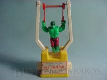 1. Brinquedos antigos - Brastaifa - Incrivel Hulk trapezista Década de 1980