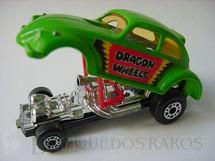1. Brinquedos antigos - Matchbox - Volkswagen Dragon Wheels Superfast verde
