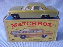 1. Brinquedos antigos - Matchbox - Opel Diplomat black plastic Regular Wheels