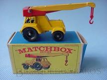1. Brinquedos antigos - Matchbox - Guindaste Taylor Jumbo Crane black plastic Regular Wheels
