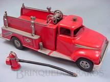 1. Brinquedos antigos - Tonka - Caminhão com hidrante e mangueira 60,00 cm de comprimento Década de 1950