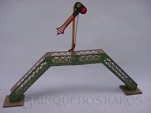 1. Brinquedos antigos - Metalma - Passarela com Sinaleiro de Linha Década de 1950