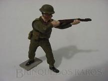 1. Brinquedos antigos - Hobbylandia - Soldado Inglês Atirando uniforme verde II Guerra