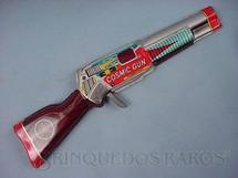 1. Brinquedos antigos - MTU - Rifle Espacial Cosmic Gun com 30,00 cm de comprimento Década de 1970