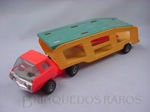 1. Brinquedos antigos - Estrela - Caminhão cegonha Super Jamanta Motor Show sem carros Ano 1975