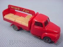 1. Brinquedos antigos - Wiking - Caminhão Wimo Sip com engradados Década de 1950