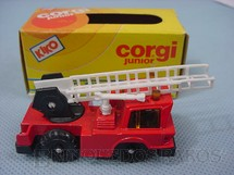1. Brinquedos antigos - Corgi Toys-Kiko - Mobile Crane com escada Brazilian Corgi Jr Kiko Década de 1980