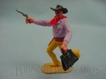 1. Brinquedos antigos - Timpo Toys - Bandido à pé com revolver e maleta