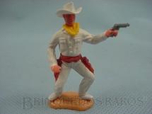 1. Brinquedos antigos - Timpo Toys - Cowboy de pé com revolver