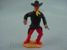 1. Brinquedos antigos - Timpo Toys - Cowboy de pé com dois revolveres