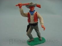 1. Brinquedos antigos - Timpo Toys - Cowboy de pé lutando com rifle