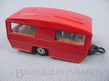 1. Brinquedos antigos - Corgi Toys-Kiko - Caravan Trailer vermelho Brazilian Corgi Jr Kiko Década de 1980